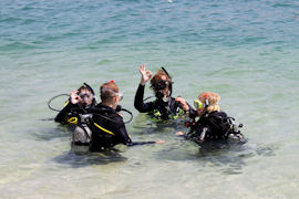Croatia Diving: Happy PADI Open water student