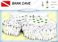 Croatia Divers - Dive Site Map of Bank Cave