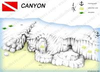Croatia Divers - Dive Site Map of Canyon