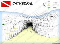 Croatia Divers - Dive Site Map of Cathedral