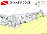 Croatia Divers - Dive Site Map of Danne's Cove