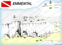 Croatia Divers - Dive Site Map of Emmental