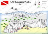 Croatia Divers - Dive Site Map of Gorgonian Rosso