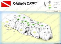 Croatia Divers - Dive Site Map of Kamina Drift