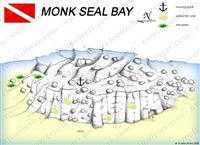 Croatia Divers - Dive Site Map of Monk Seal Bay