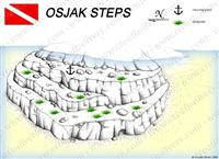 Croatia Divers - Dive Site Map of Osjak Steps