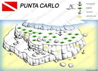Croatia Divers - Dive Site Map of Punta Carlo