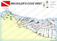 Croatia Divers - Dive Site Map of Smuggler's Cove West