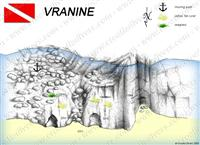 Croatia Divers - Dive Site Map of Vranine
