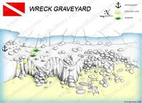 Croatia Divers - Dive Site Map of Wreck Graveyard